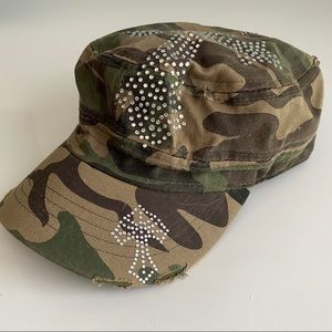 Accessories - Camouflage Bling Summer Hat